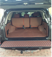 Good! Special trunk mats for New Toyota Land Cruiser 5seats 2016 waterproof boot carpets liner for LC200 2015-2013,Free shipping(China (Mainland))