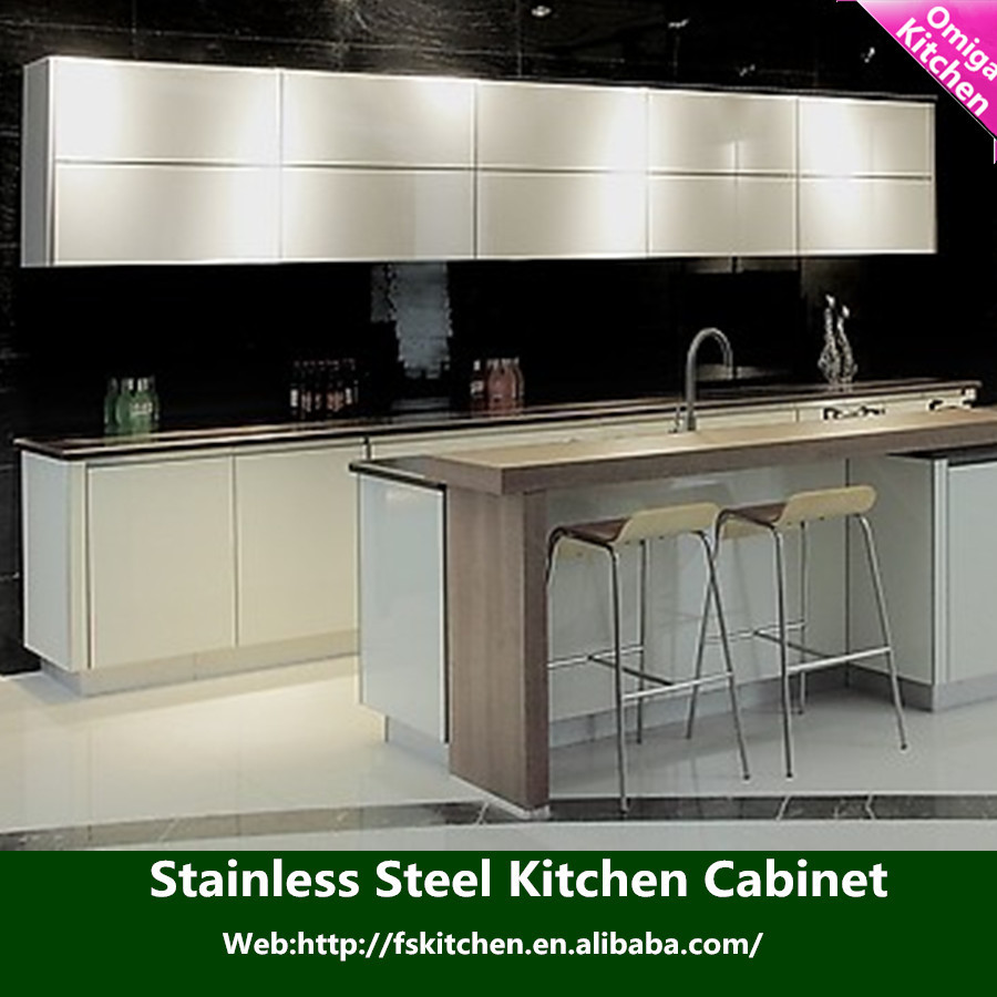 Commercial stainless steel kitchen cabinet stainless steel for Kitchen cabinets stainless steel