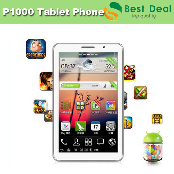 GSM 2G phone call tablets 7inch P1000 Dual SIM cards MTK 6515 Dual Camera Support A-GPS/WIFI/FM+Free PU Leather Case+2 Battery(China (Mainland))