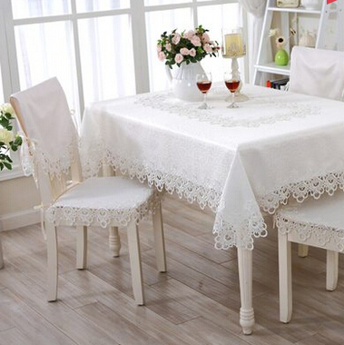 Fashion pure white embroidered tablecloth European style cutout lace table runner Hollow out lace tea tablecloth chair covers(China (Mainland))