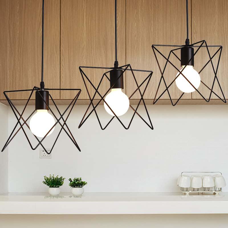 New E27 Industrial Rope Lamp Living Room Kitchen Restaurant Decor Vintage Pendant Lights Black Iron Home Lighting 110-220V(China (Mainland))