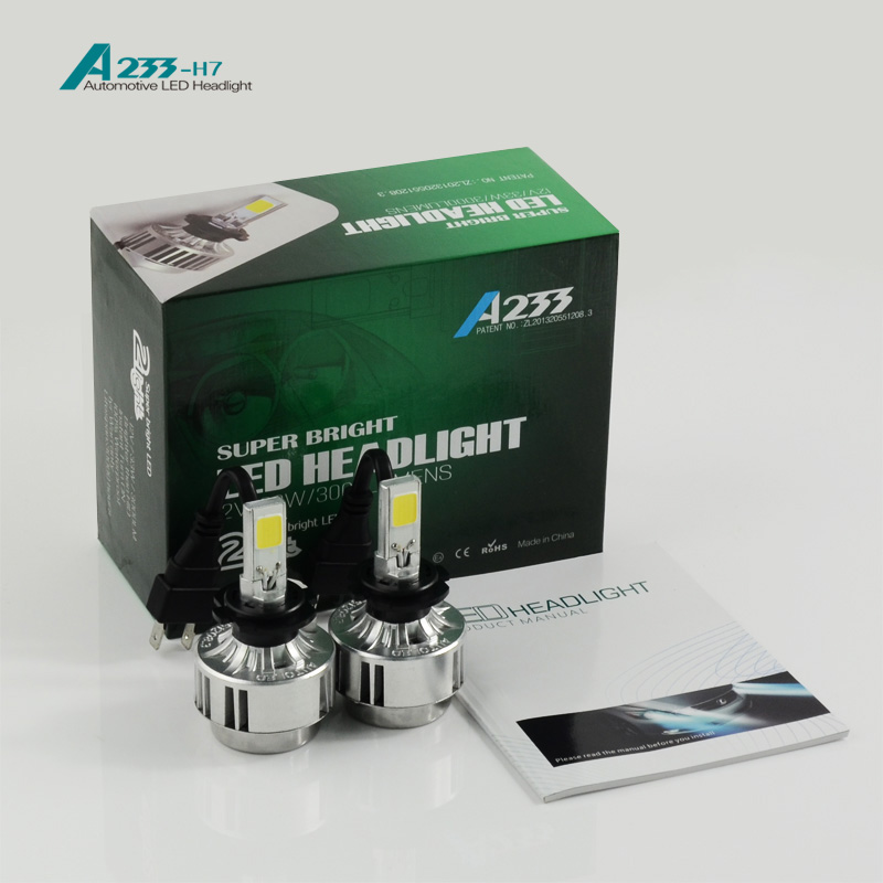 YUMSEEN H7 LED Car Headlight Kit Auto Front Bulb Lamp Automobile Headlamp 6000lm 66W No Ballast for mercedes audi a4 car styling(China (Mainland))