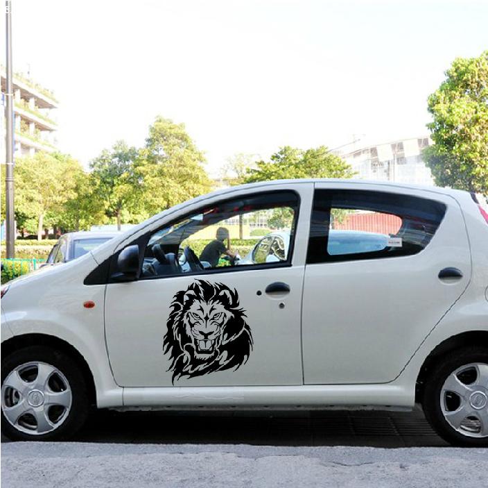 Buy vip lion totem car hood sticker angry lion decoration car door sticker - Cool door cars decoration ...