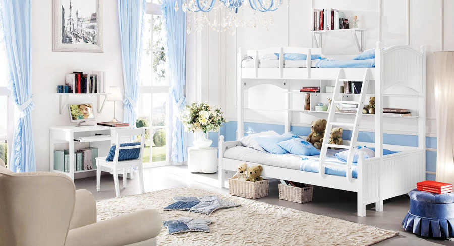 style kids bedroom set kid bunk bed solid wood decorative furniture