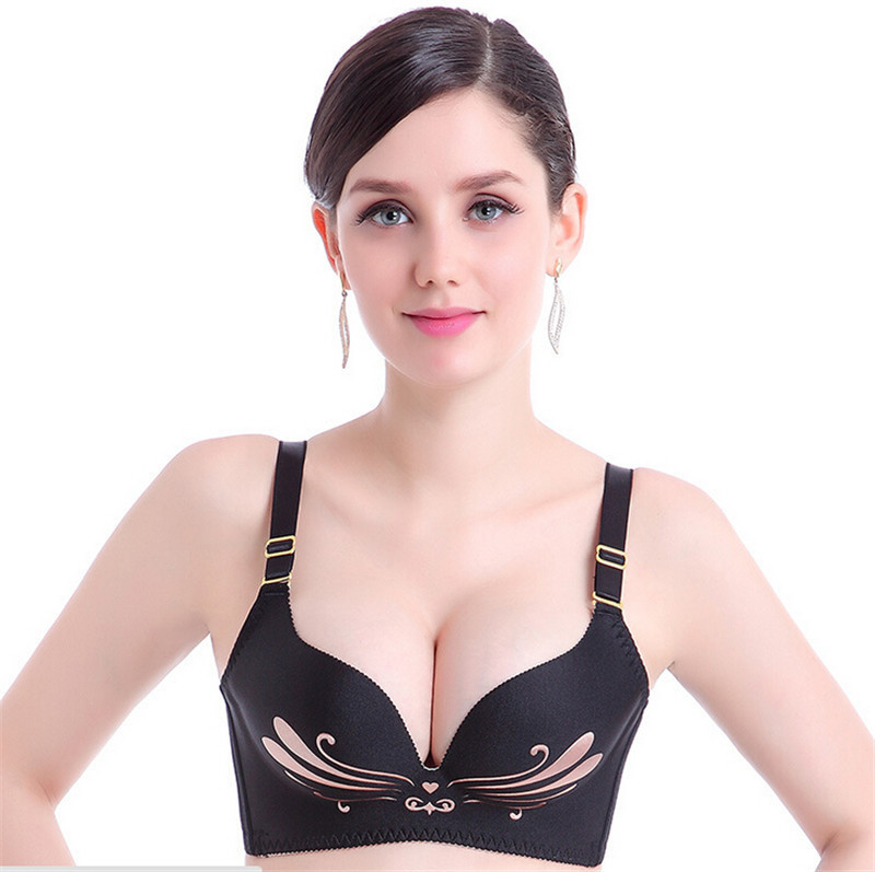 2015 New Women Seamless Wireless Push Up Bra Print Back Support Lingeries Magic The Gathering Sous Vetement Femme Mutande Donna(China (Mainland))