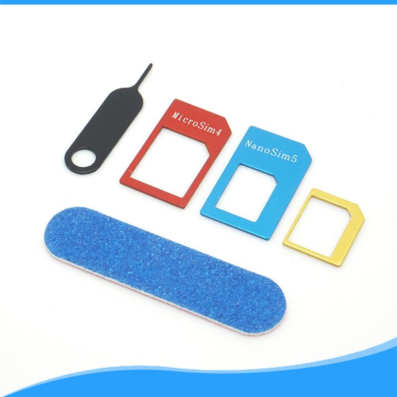 Micro+Standard+Nano Sim Card Adapters+Eject Pin Key Hot 4in1 For iphone 4/5/6 Samsung metal Nano Micro Standard SIM Card Adaptor(China (Mainland))