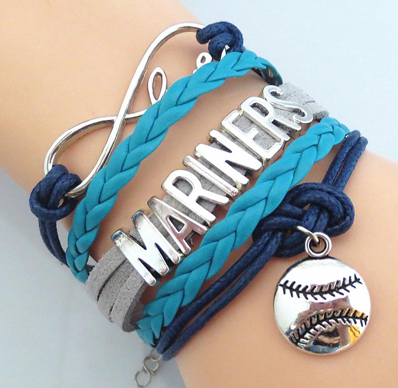 2016 Wholesale factory baseball Sports SEATTLE MARINERS team Bracelet sport fans infinity friendship bracelets P0319(China (Mainland))