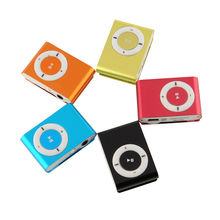 New Original Portable Metal Clip MP3 Player with 8 Candy Colors No Memory Card Music Player with TF Slot(China (Mainland))