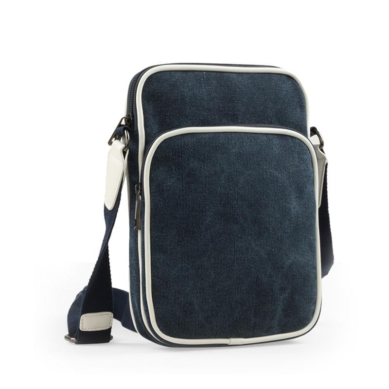 man small canvas messenger bag / men's travel business shoulder male zipper vintage sport casual briefcase brand name bags - Sammejoy Apparel Store store