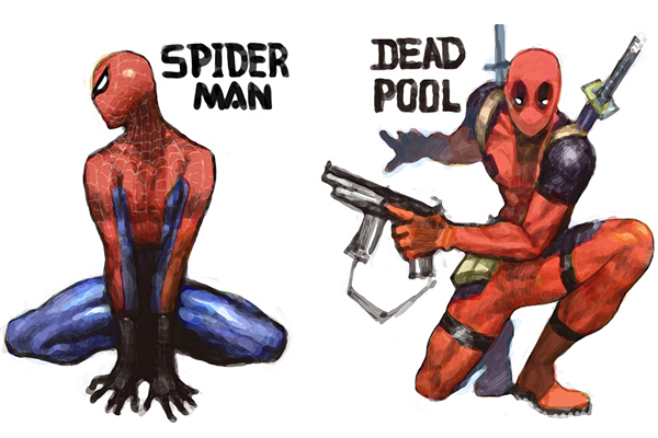 Deadpool affiche Spiderman Marvel Legends toile imprime Marvel Comics ...: fr.aliexpress.com/cheap/cheap-spiderman-mask-print.html