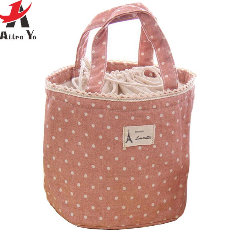 atrra yo free shipping women bags lunch bag canvas bag dot women handbag pouch for ladies free. Black Bedroom Furniture Sets. Home Design Ideas