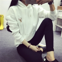 High Quality Sweatshirts Casual Womens Spring Autumn Hoodies Long Sleeve Simple Hooded Jacket 18-24 Young girl Outerwear (China (Mainland))