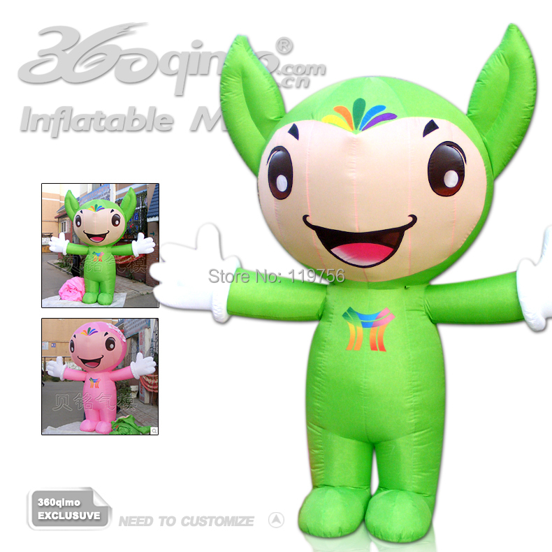Free Shipping !!! Custom Pink Inflatable Advertising cartoon girl for sale(China (Mainland))