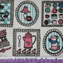 43267 50*147cm patchwork coffee cup linen for tissue kids bedding textile for sewing tilda doll, diy handmade materials(China (Mainland))