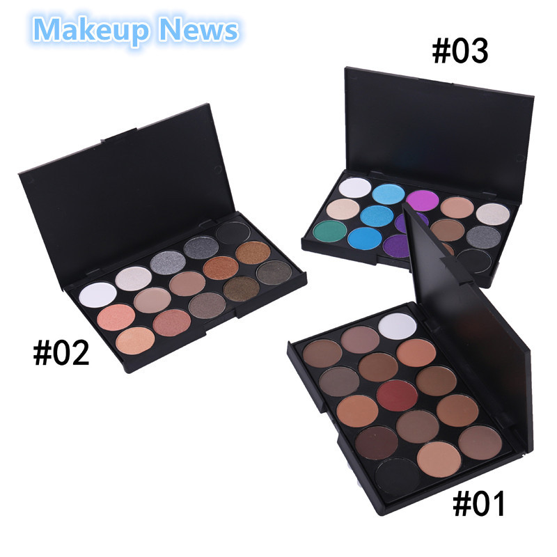 1pcs Natural15 Colors Eye shadow cosmetics Long Lasting Makeup Eyeshadow Palette Cosmetic set For Women15 Earth naked Color(China (Mainland))