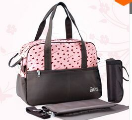 2015 New Fashion Elegance Nappy Bag/Multi-Function Mommy Bags/Handbags Baby Carriage Diaper Bag/Free Shipping/Honey Heart Style(China (Mainland))