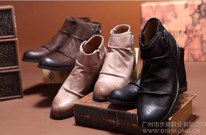 ! New 2014 Fashion British Style Men's Boots, Cowboy Short Boots Classic Vintage Adult Shoes EU 38 -43 - Kuta Co., Ltd. store