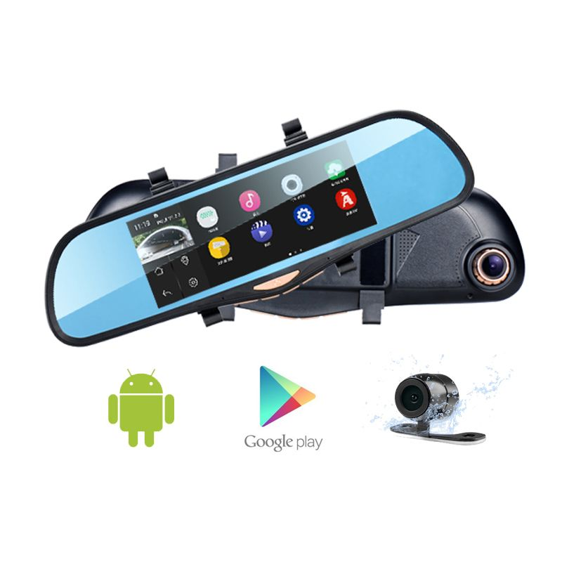 "Original Car DVR K09 ROM16GB Mirror Camera GPS Navigation FHD 1080P WIFI FM Transmitter 6.86"" Touch With Tow Cameras 140 Degree(China (Mainland))"