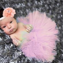 Newborn tutu Skirt Photography Props Baby Girl tutu and Flower Headband Set photoshoot outfits(China (Mainland))