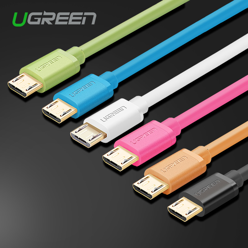 Ugreen Micro USB to USB Cable 5V2A USB Data Cable 1m 2m 3m Mobile Phone charger Cable Adapter for Xiaomi Sony HuaWei One Plus(China (Mainland))