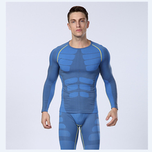 1set = t-Shirt + pants Europe's compression Men's quick-drying breathable Outdoor Sports Fitness Underwear(China (Mainland))