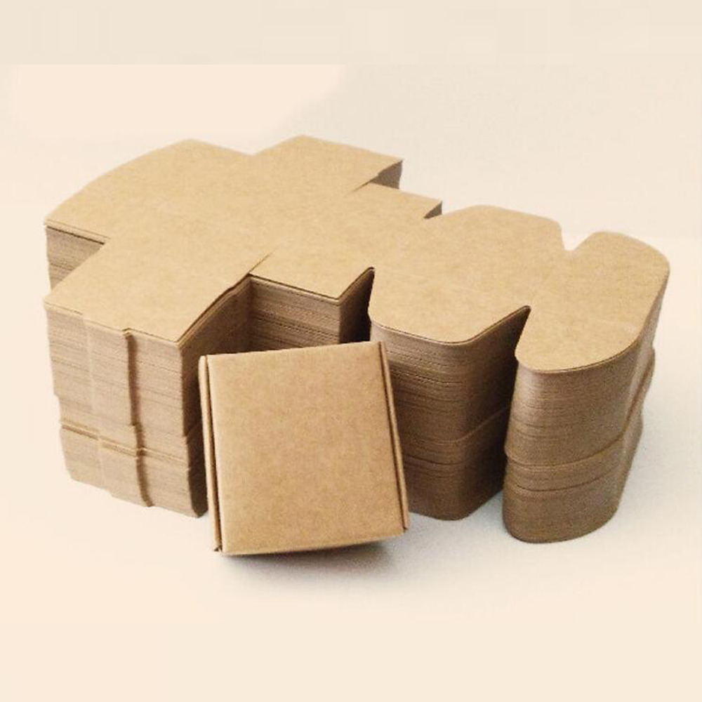 Brown Kraft Paper Box Universal Wedding Gift Box Candy Jewelry Packaging Box 7 Sizes Available(China (Mainland))