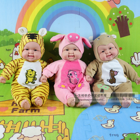 Гаджет  Free shipping 45 cm Simulation laughing baby doll Chinese zodiac Baby animals model toys early education training None Игрушки и Хобби