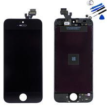 """For iphone 5 LCD Touch Screen Digitizer Assembly Mobile Phone Part LCDs Display 3.5"""" with Repair Tool 100% Guarantee Original"""