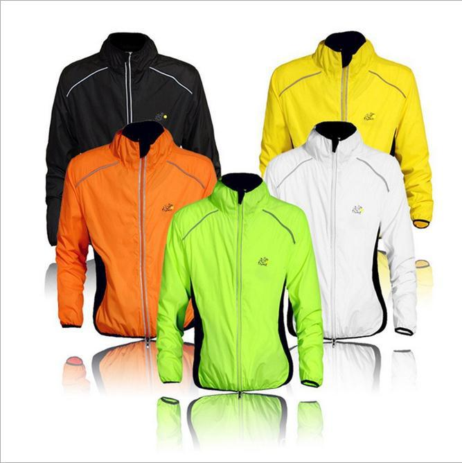 Plus Size S-XXXL New Long Sleeve Breathable Windproof Cycling Jacket Tour de France Bicycle Waterproof Men Cycling Rain Jacket(China (Mainland))