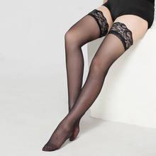 Nieuwe Mode Dames Sheer Cable Knit Extra Lange Boot Sexy Panty Stay Up Dij Hoge Kousen Lace Top Panty Zwart wit(China)