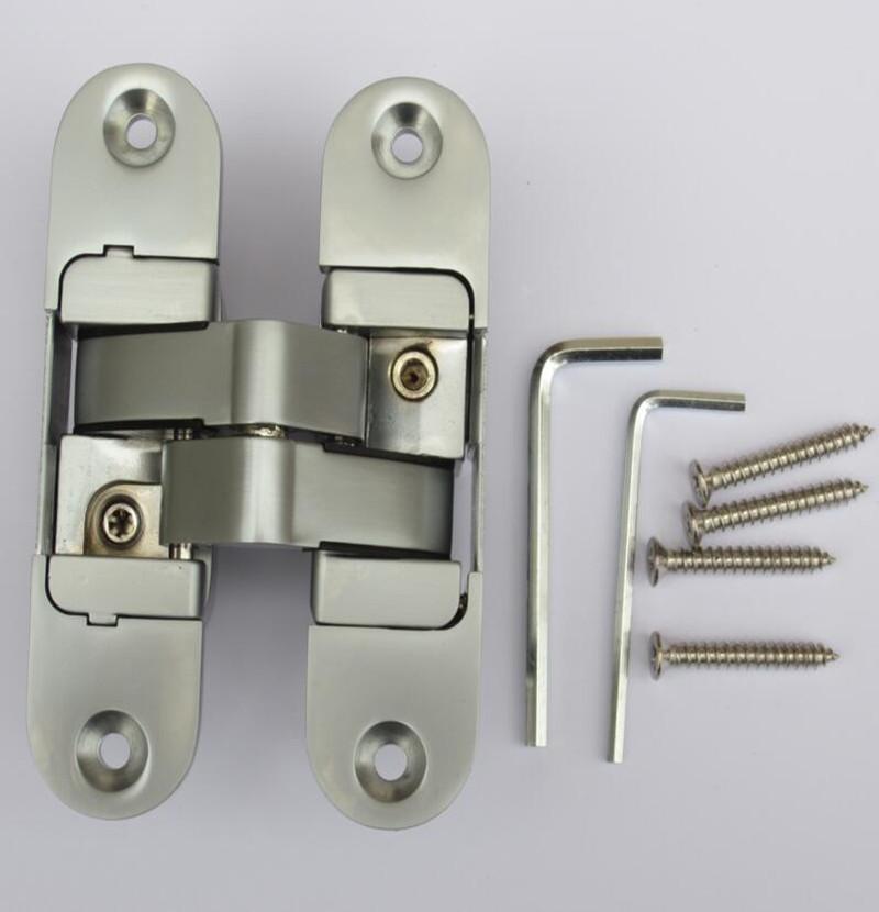 Three-dimensional Hidden Door Hinge Adjustable Hinges load 50kg 2PCS(China (Mainland))