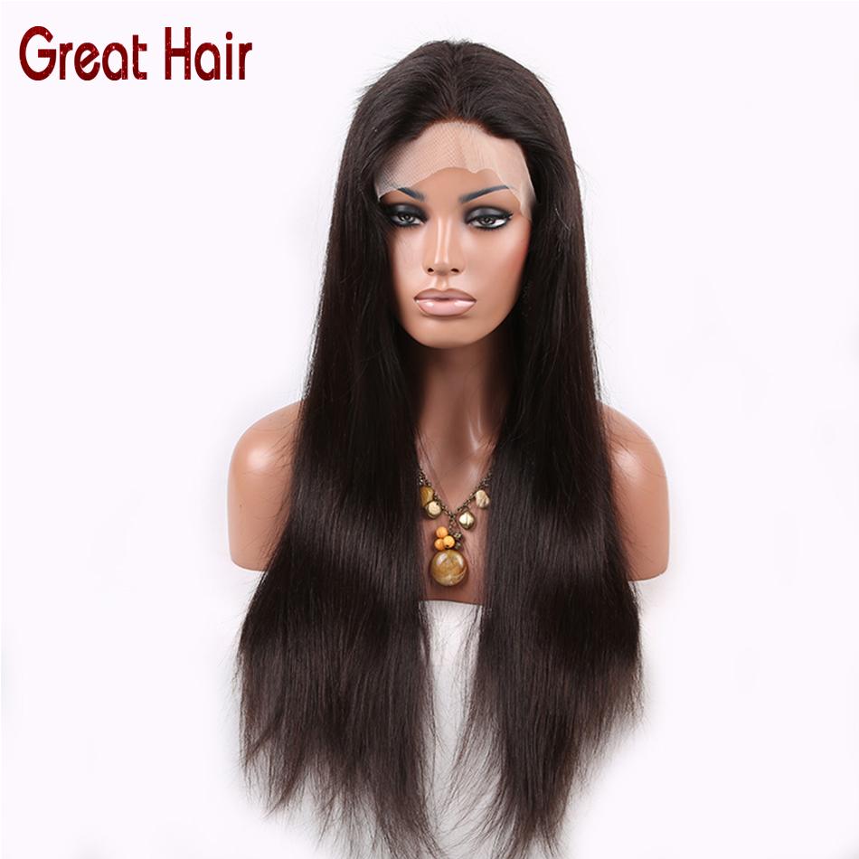 7A Full Lace Human Hair Wigs for Black Women Glueless Full Lace Wigs Brazilian Virgin Hair Straight Lace Front Human Hair Wigs<br><br>Aliexpress