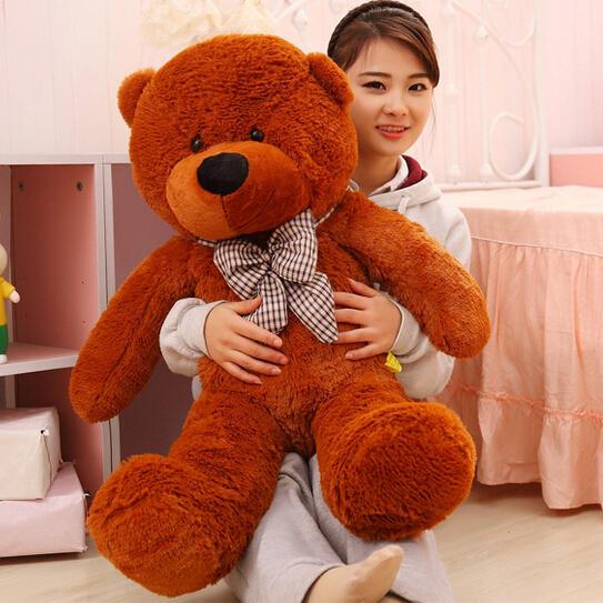 100CM Giant Teddy Bear Plush Toys Stuffed Ted Cheap Pirce Gifts for Kids Girlfriends Christmas P0209E(China (Mainland))