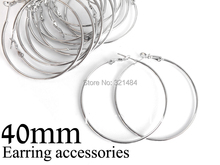 500pc/lot rhodium plated french circle hooks earring