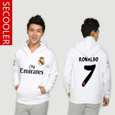 real madrid 2016 Ronaldo survetement football New Real Madrid football men with cashmere hoodies coat male training clothes(China (Mainland))