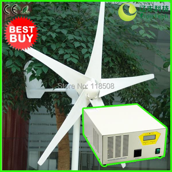 [BEST Mini Beautiful Home Wind Power System] 300W 24V Wind Turbine NE-300M + 300W 24V Hybrid Inverter & Controller Device, CE(China (Mainland))