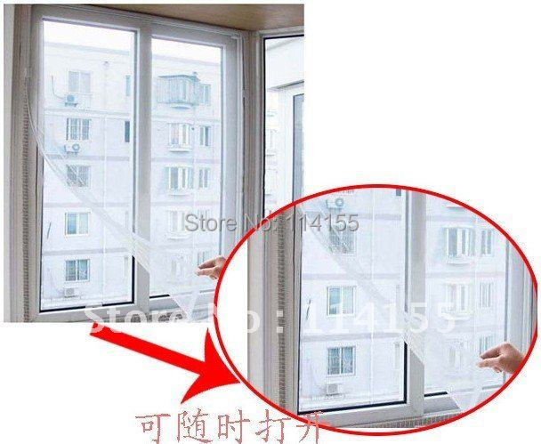 Free shipping Insect Fly Mosquito Window Net Netting Mesh Screen screens New curtains