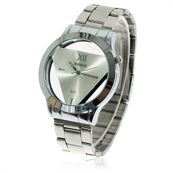 Wholesale Free Shipping Fashionable Bariho Triangle Shaped Dial Stainless Steel Wrist Watch for Men A112 (Silver)