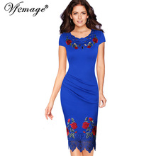Buy Vfemage Womens Elegant Crochet Lace Embroidery Flower Casual Party Evening Mother Bride Special Occasion Bodycon Dress 4265 for $20.99 in AliExpress store
