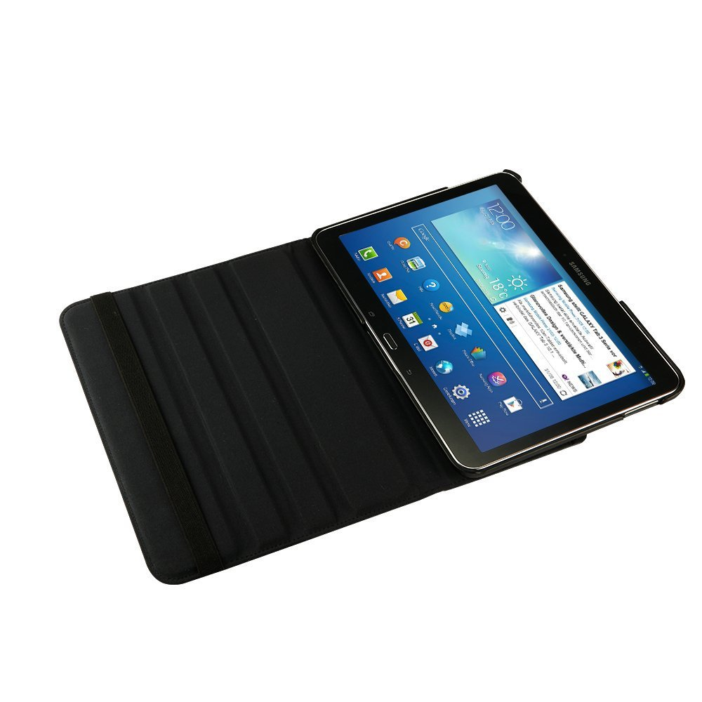 360 ratating for samsung galaxy tab 4 10 1 Magnetic material smart leather case with sleep