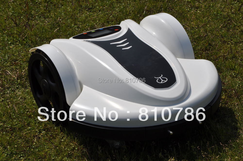 Free Shipping 2014 Newest With Password,Time Setting,Language and Subarea Setting Function Lawn Mower Robot (Lead-acid Battery)(China (Mainland))
