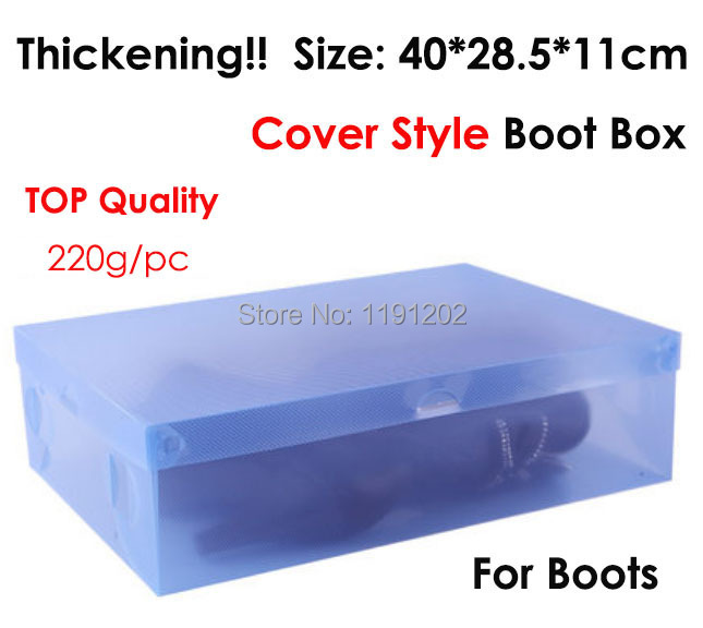 Boot Box! Thickening cover style transparent shoe box colors plastic PP storage box packaging box for boots free shipping(China (Mainland))