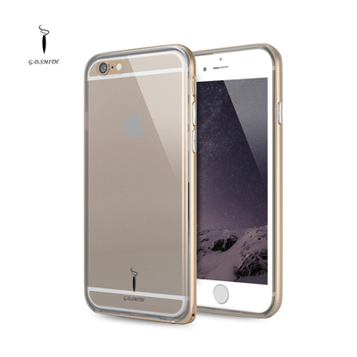 Double Protection Luxury Case Cover for iPhone 6/6 Plus Metal Frame & Soft cell phone case For Apple iPhone 6 4.7 Accessories(China (Mainland))