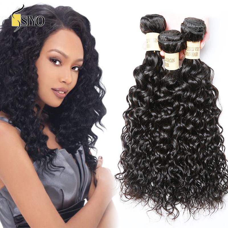 Luxy Hair Company Filipino Virgin Hair Water Wave 4Pcs Virgin Filipino Hair Weave Filipino Wet and Wavy Human Hair Extension