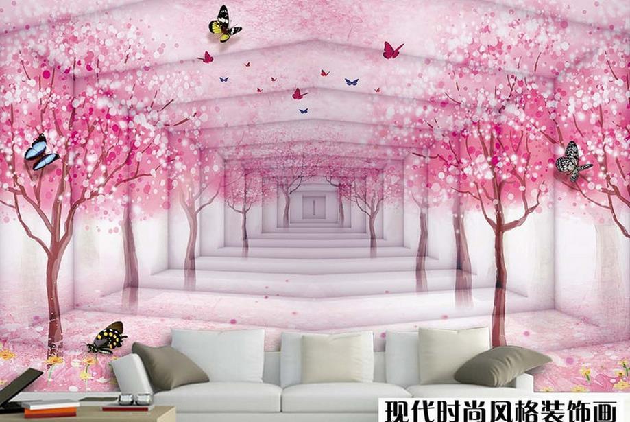 Popular blossoms wallpaper buy cheap blossoms wallpaper for Cherry blossom mural wallpaper