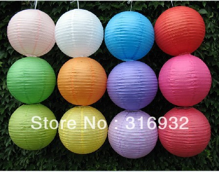 M4 Free shipping, 40cm paper lanterns lamp, paper lamp, 10 colors for choosing