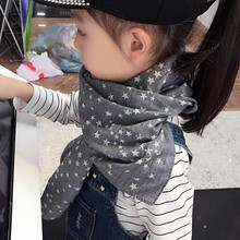 new autumn Winter Star  Chirldren cotton scarves Baby scarf Boys and girls Kids cute shawls and scarves(China (Mainland))