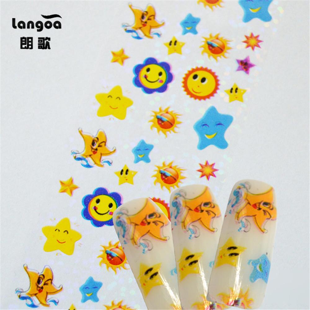 New 5pcs/Lot Fashion Nail Transfer Foil Decals Nail Art Stickers Foil Polish Adhesive Wraps DIY Nail Beauty Craft(China (Mainland))