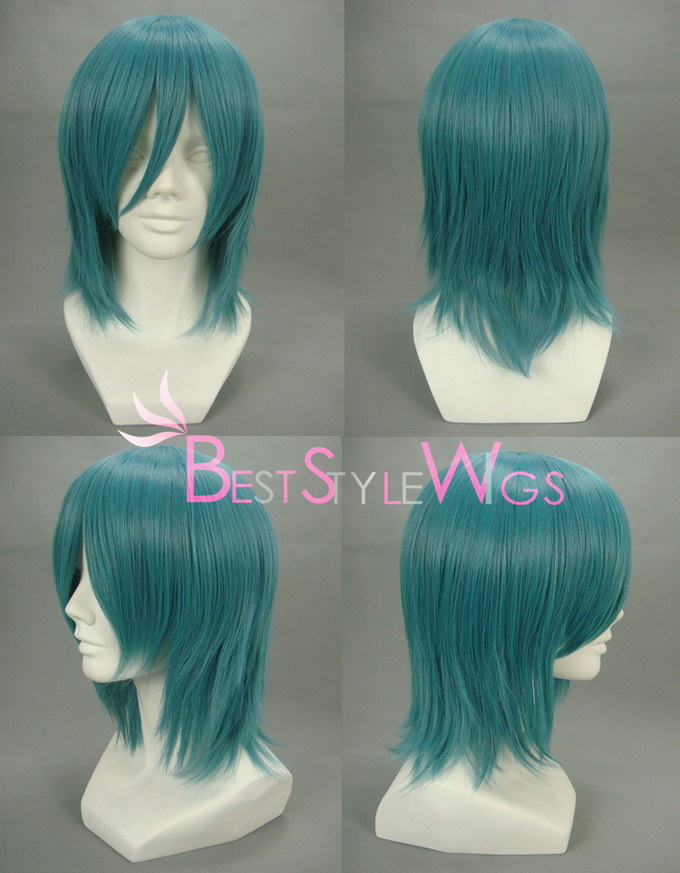 Free Shipping Synthetic VOCALOID-KAITO Pinkish Blue Cosplay Wig<br><br>Aliexpress