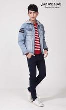 Vintage Mens Jean Jacket Hood Outwear Coat Cotton Casual Denim Jacket Men Jeans Jacket Zipper Fly